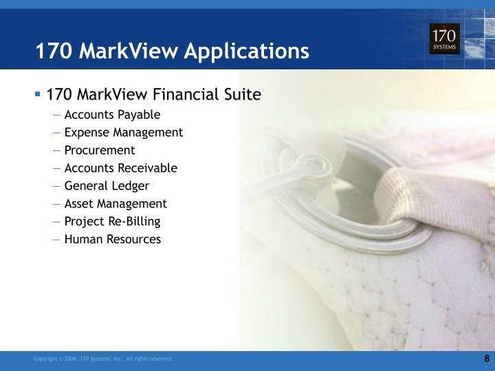 170 MarkView Applications