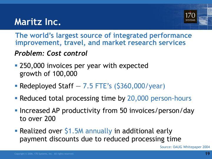 Maritz Inc.