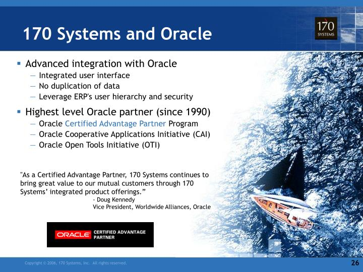 170 Systems and Oracle