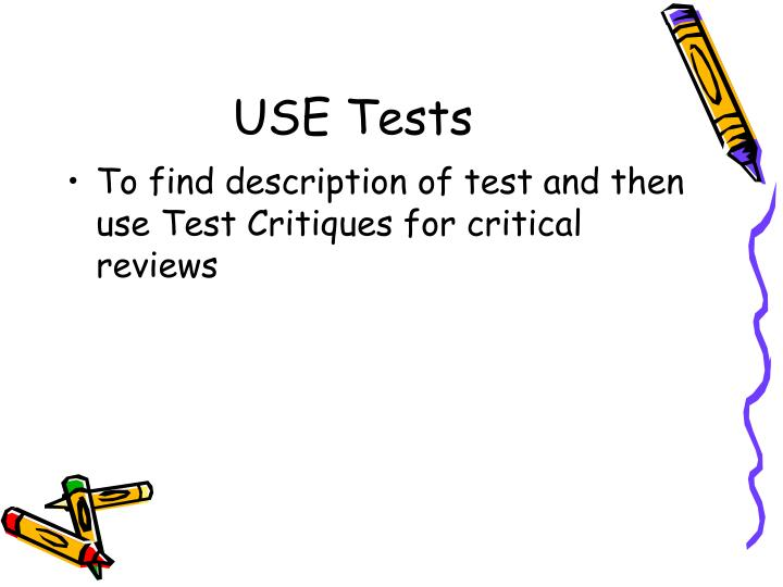 USE Tests