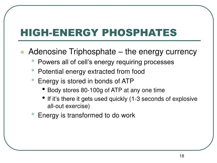 HIGH-ENERGY PHOSPHATES