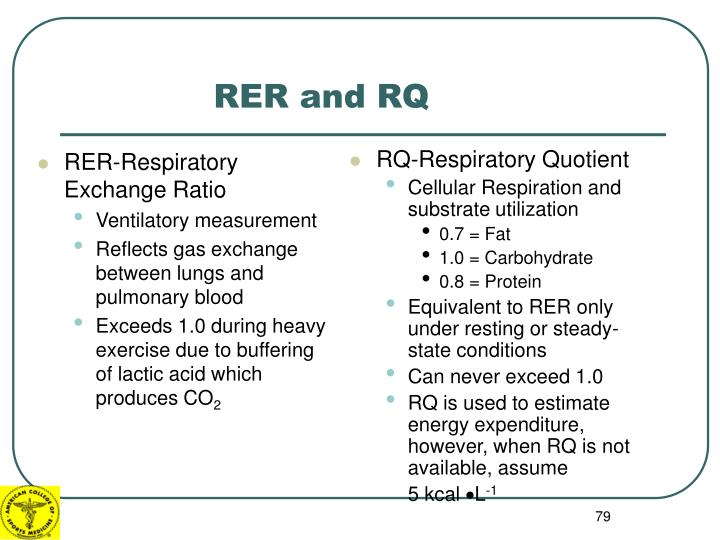 RER-Respiratory Exchange Ratio