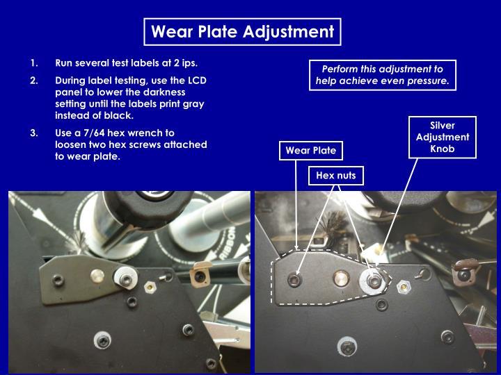 Wear Plate Adjustment