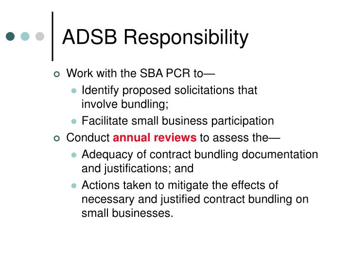 ADSB Responsibility