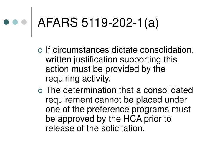 AFARS 5119-202-1(a)