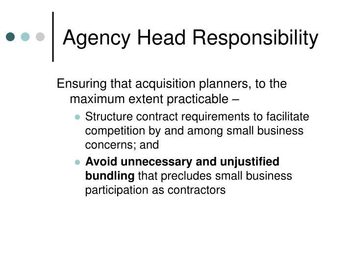 Agency Head Responsibility