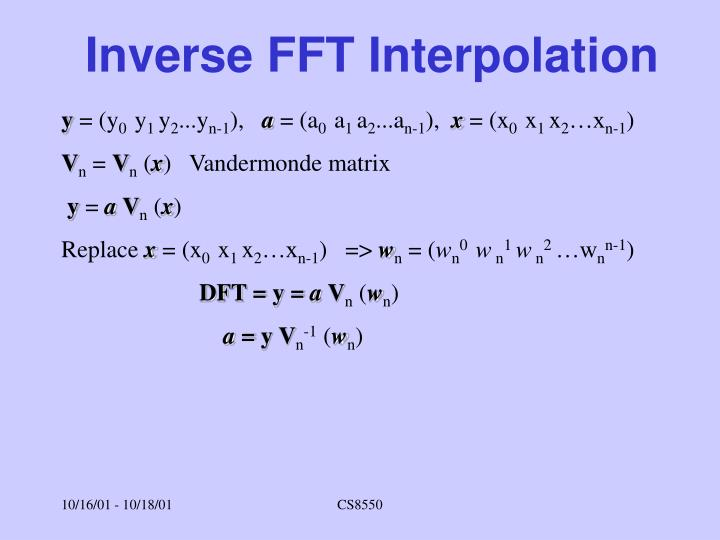Inverse FFT Interpolation