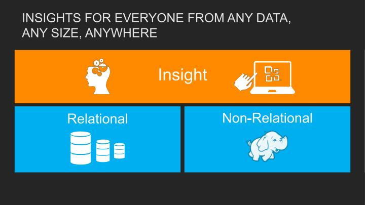 Insights for everyone from any data any size anywhere