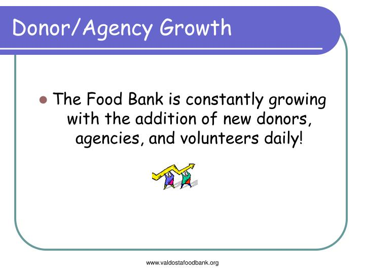 Donor/Agency Growth