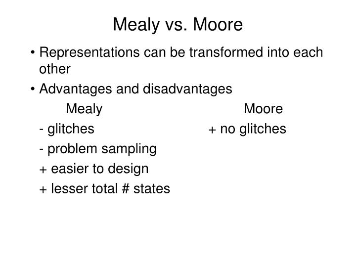 Mealy vs. Moore