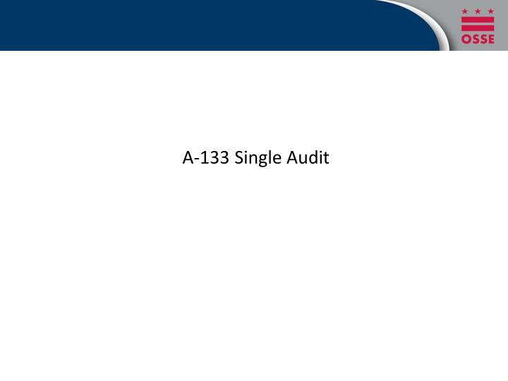 A-133 Single Audit