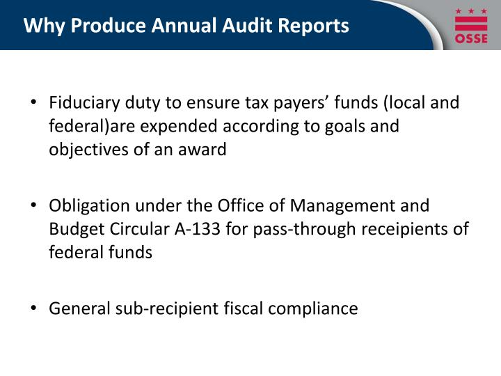 Why Produce Annual Audit Reports
