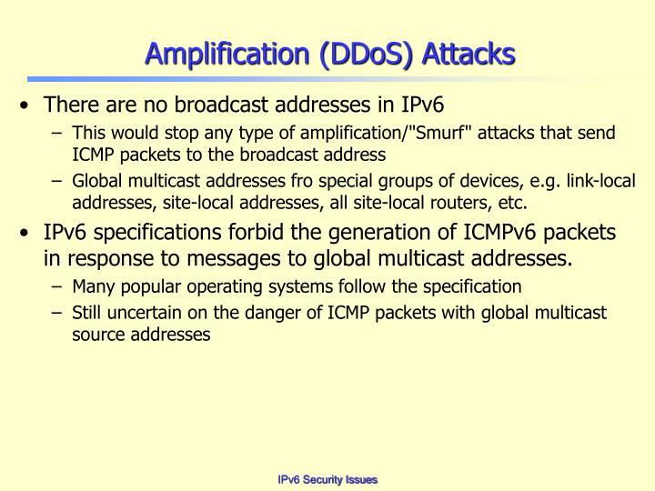 Amplification (DDoS) Attacks