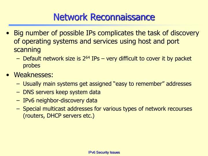 Network Reconnaissance