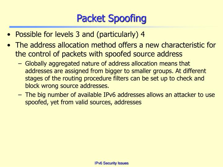 Packet Spoofing