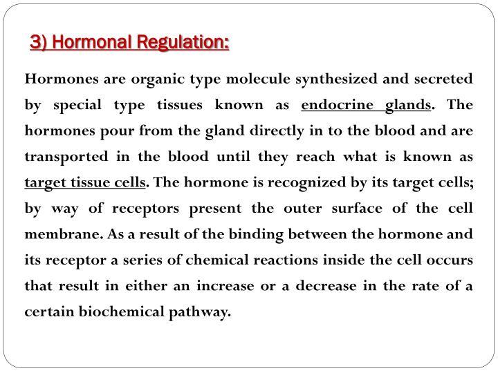 3) Hormonal Regulation: