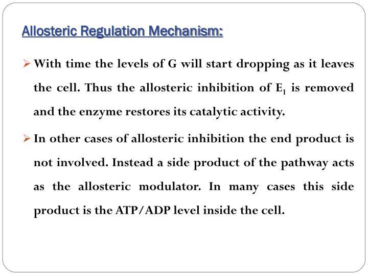 Allosteric Regulation Mechanism: