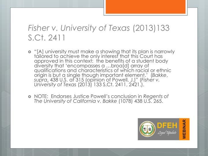 Fisher v. University of Texas