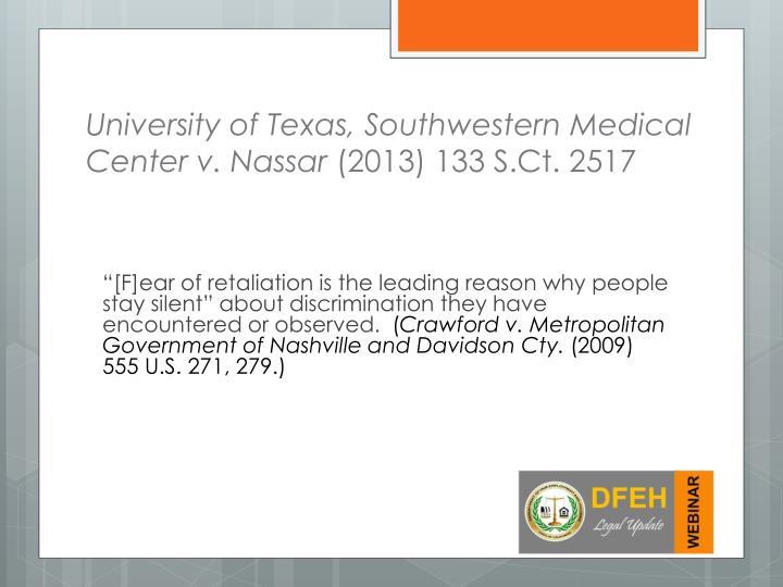 University of Texas, Southwestern Medical Center v.