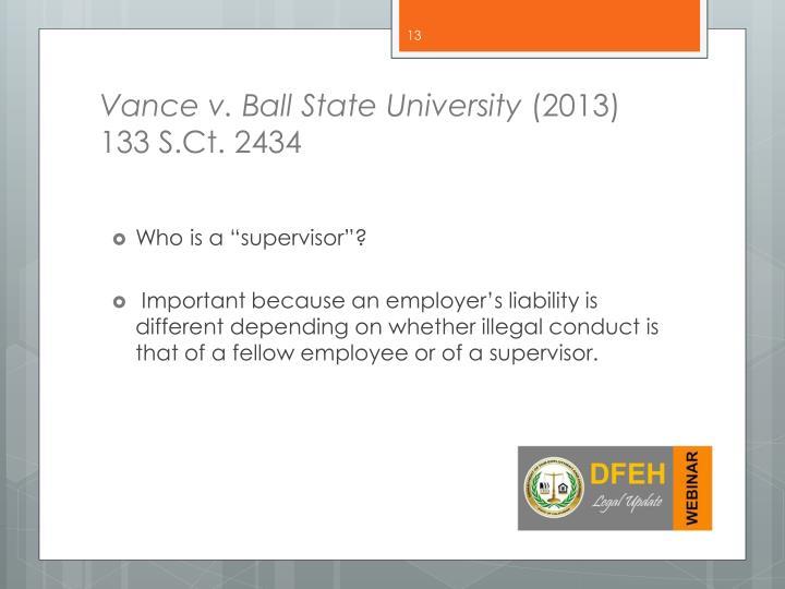 Vance v. Ball State