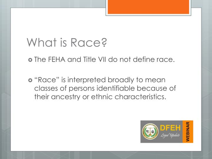 What is race