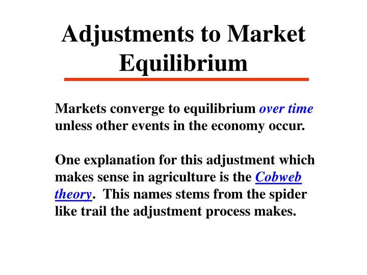 Adjustments to Market Equilibrium