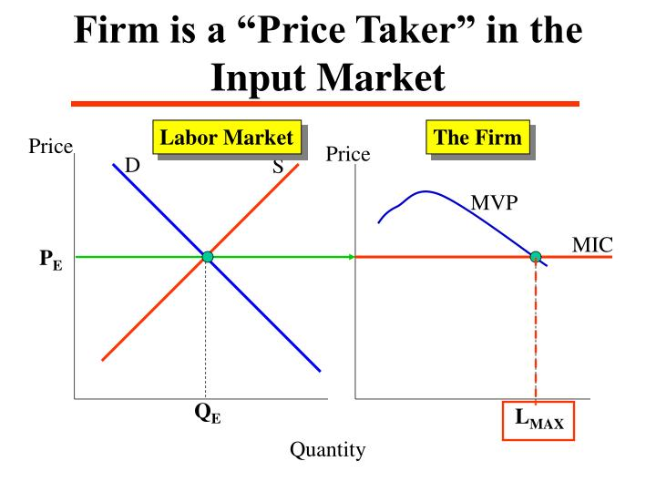 """Firm is a """"Price Taker"""" in the Input Market"""