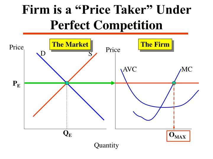"""Firm is a """"Price Taker"""" Under Perfect Competition"""