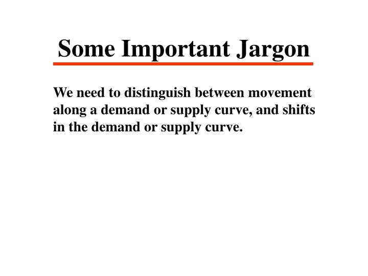 Some Important Jargon