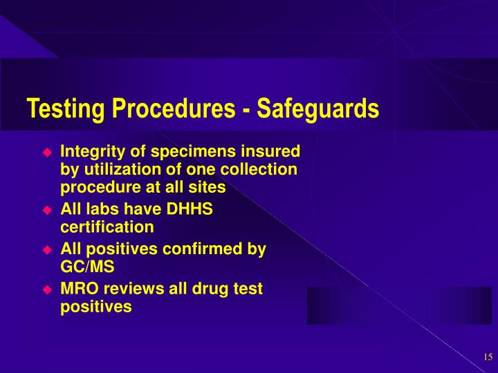 Testing Procedures - Safeguards