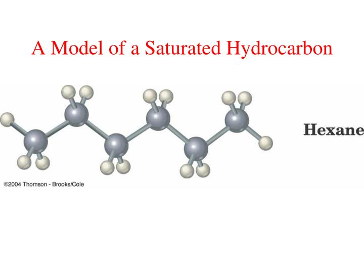 A Model of a Saturated Hydrocarbon
