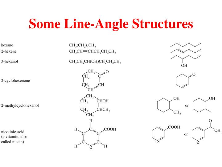 Some Line-Angle Structures