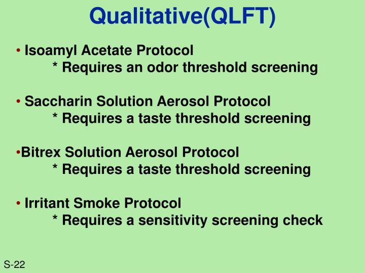 Qualitative(QLFT)