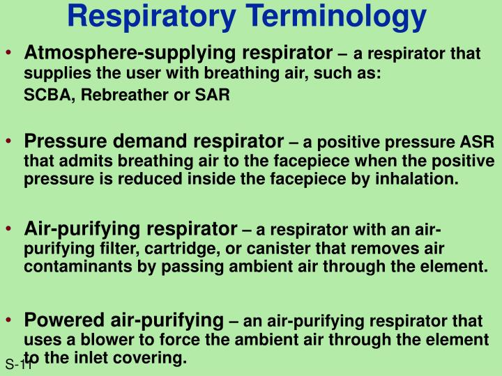 Respiratory Terminology