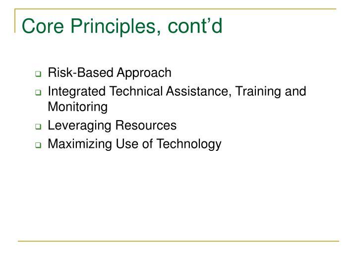 Core Principles