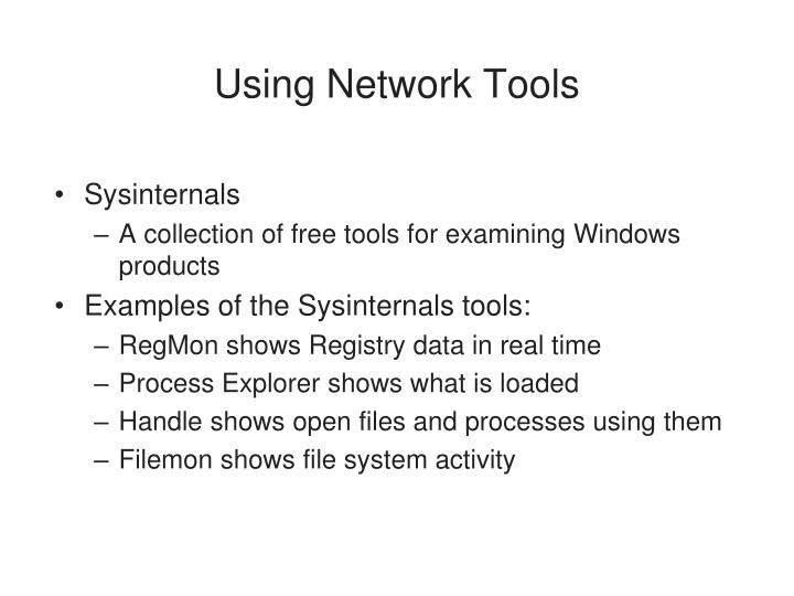 Using Network Tools