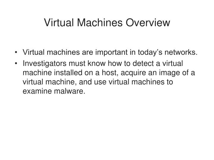 Virtual machines overview