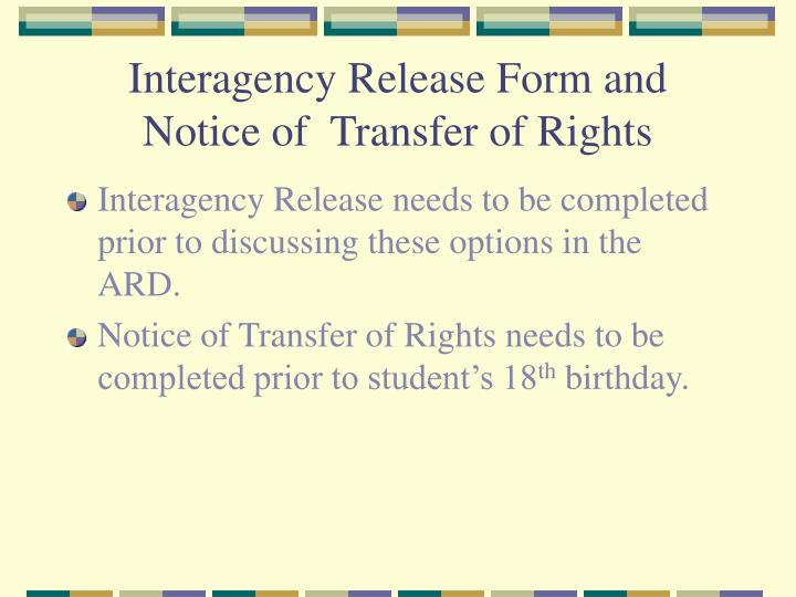 Interagency Release Form and