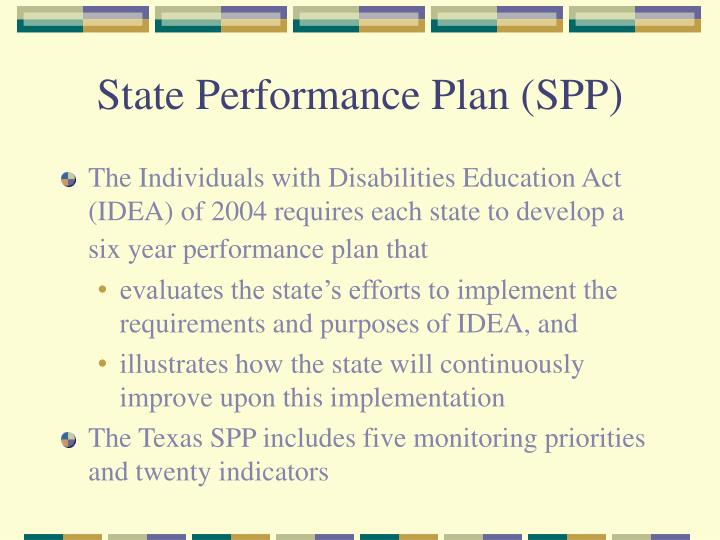 State Performance Plan (SPP)