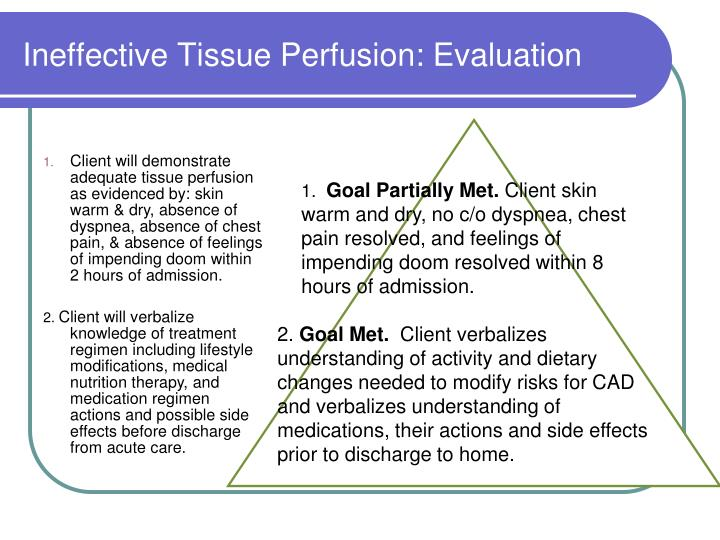 Ineffective Tissue Perfusion: Evaluation