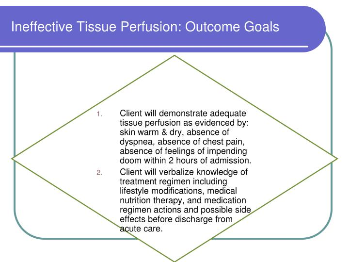 Ineffective Tissue Perfusion: Outcome Goals
