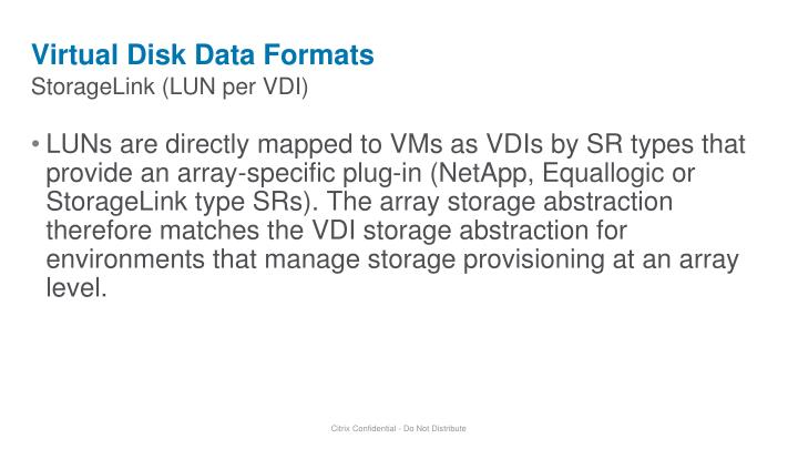 Virtual Disk Data Formats