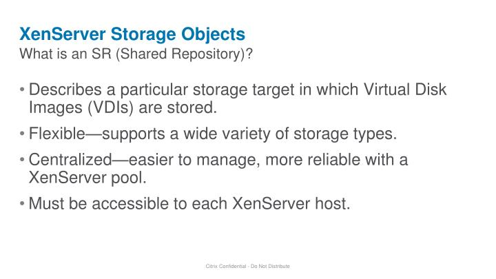 XenServer Storage Objects