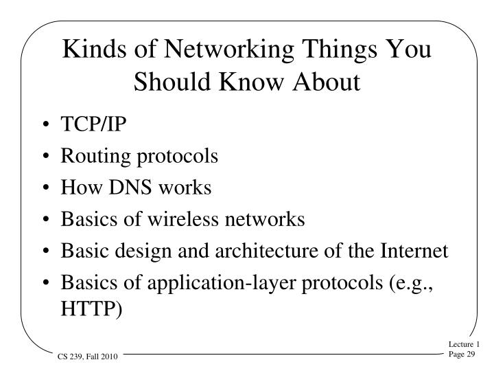 Kinds of Networking Things You Should Know About