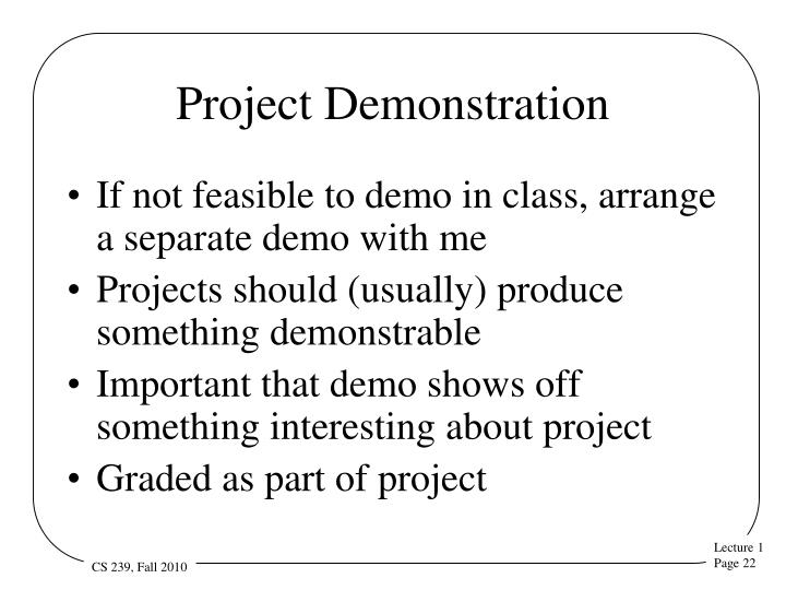 Project Demonstration