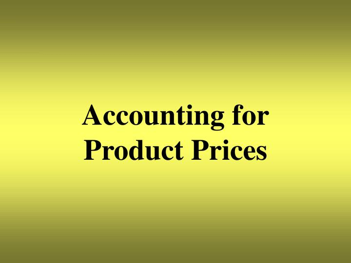 Accounting for