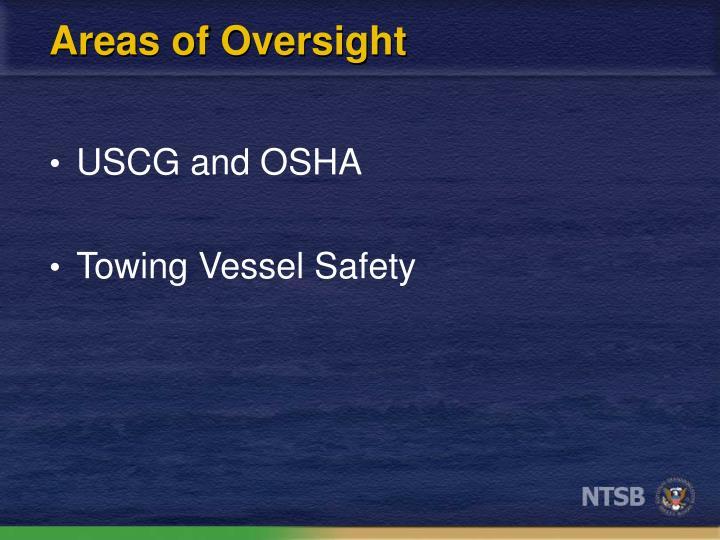 Areas of Oversight