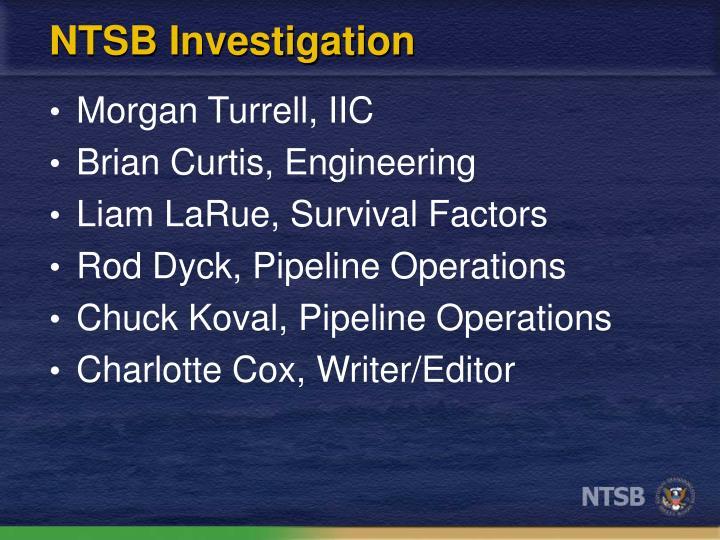 NTSB Investigation