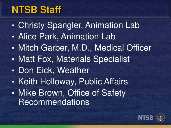 NTSB Staff