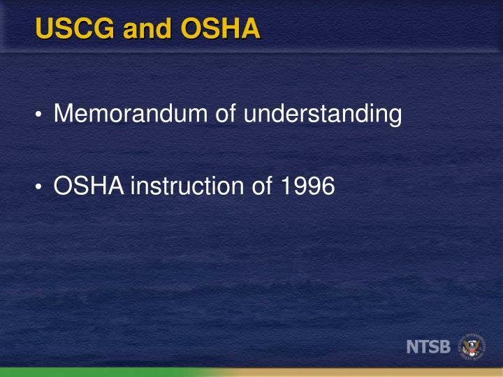 USCG and OSHA